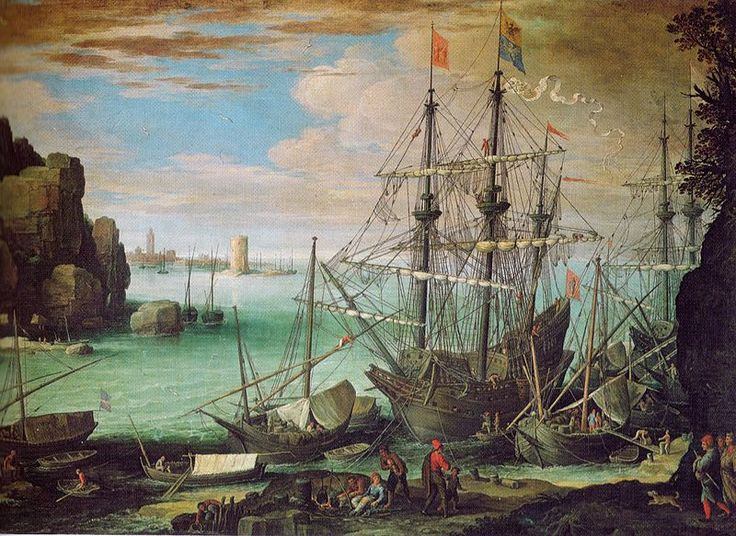 Paul Bril (circa 1553/1554–1626) Küstenlandschaft mit Hafen Date	circa 1610 Medium	oil on canvas Dimensions	107 × 151 cm Galleria Borghese  Rome