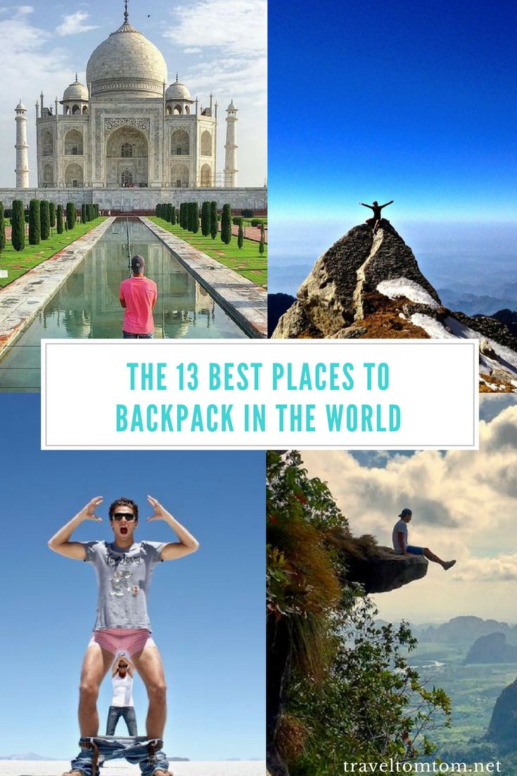 The 13 Best Places To Backpack In The World. If you are looking for the best places to travel on a budget than you found the right list. I'm not saying these are the cheapest countries in the world to backpack but this are some of the best places to travel on a budget. #SouthEastAsia #Vietnam #Laos #Thailand #Indonesia #Nicaragua #KohTao #Asia #Philippines #cebu #elnido #Indonesia #bali #lombok #Guatemala #Bolivia #Vietnam #iran #china #nepal #india #srilanka