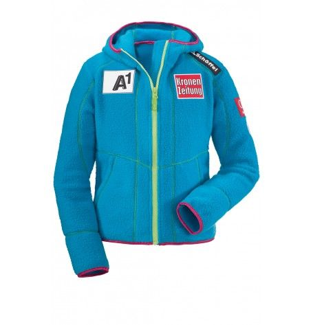 "The sporty Austrians Milou Jacket with the current look of the Austrian ski team, is a ""must have"" for all Junior skiers. She promises you the kind of cozy comfort that you need when you're out in the cold. Take the zipper and enjoy your day to the fullest. For all who know what they need."