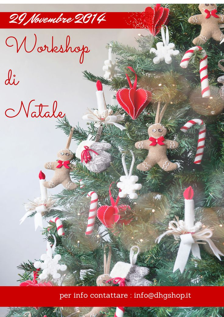 Our Christmas workshop to create wonderful decorations in felt for your tree! dhgshop.it