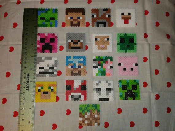 Minecraft cake toppers/keychains/magnets