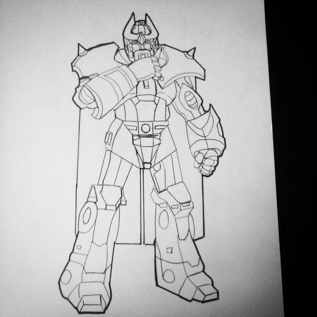Inked...#alphatrion #diaclone #anime #manga #robot #autobot #transformers #transformersthemovie #hasbro #takara #a3 #primes #inks #jasonmontoyaartist #illustration #drawing #sketch #marchofrobots