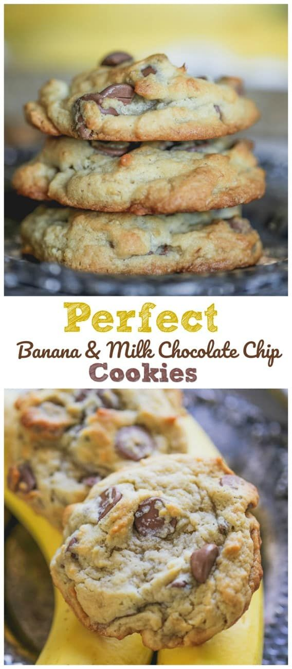 Perfekte Bananenmilch-Schokoladenkekse
