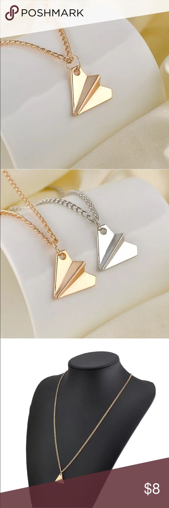 Henry styles, 1 Direction, paper plane, charm Silver tone and gold tone charm necklaces available. As seen worn by Henry styles. Great stocking stuffer! none Jewelry Necklaces