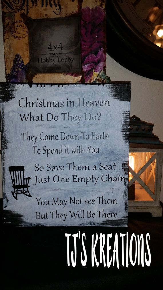 A Beautiful Christmas In Heaven sign by JenningsKreations on Etsy