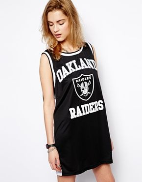 Majestic Oakland Raiders Basketball Vest Dress