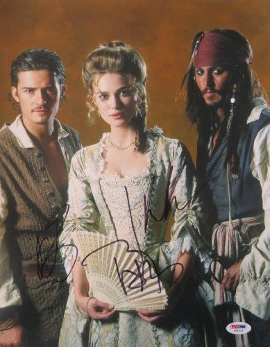 Pirates of the Caribbean Cast Signed Authentic Autographed 11x14 Photo (PSA/DNA) Johnny Depp Orlando @ niftywarehouse.com