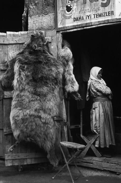 Shop selling bearskins and animal furs, near Bitlis in eastern Turkey, photo by Ara Güler (please repin with photographers credits)