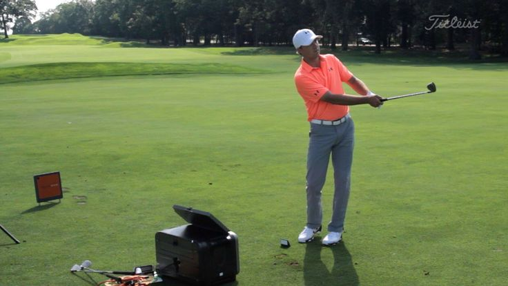 World No. 1 Jordan Spieth demonstrates how to execute a 50-yard low check spinner shot, in which the ball checks and then releases to get close to the pin. #TipTuesday #GolfTip #Golf