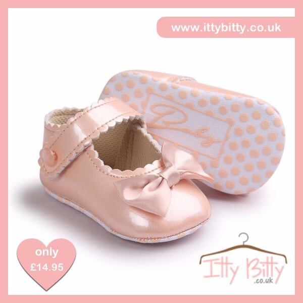 💕Itty Bitty Limited Edition Pearl Soft Sole Baby Girl First Walkers Shoes💕  PRE-ORDER HERE: https://www.ittybitty.co.uk/product/itty-bitty-black-soft-sole-baby-girl-first-walkers-shoes-copy  #baby #shoes #girls