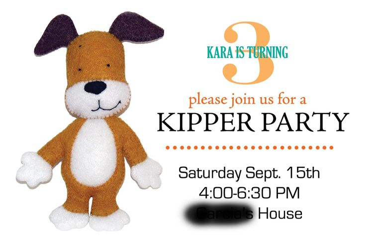Glued To Glory: Kipper The Dog Birthday Party