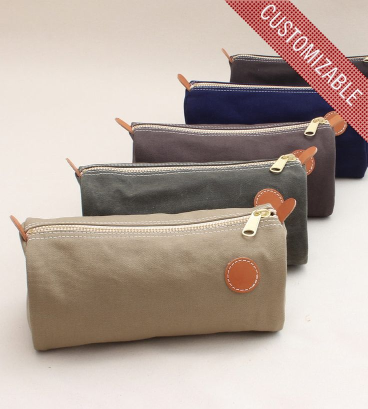 Dopp Kit By W Durable Goods on Scoutmob Shoppe. Awesome customizable Dopp kit (put initials on the leather). Cool groomsmen's presents.