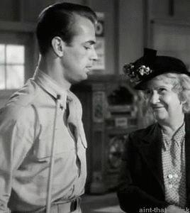 "Alan Ladd gets hugged, ""Lucky Jordan"" (1942)"