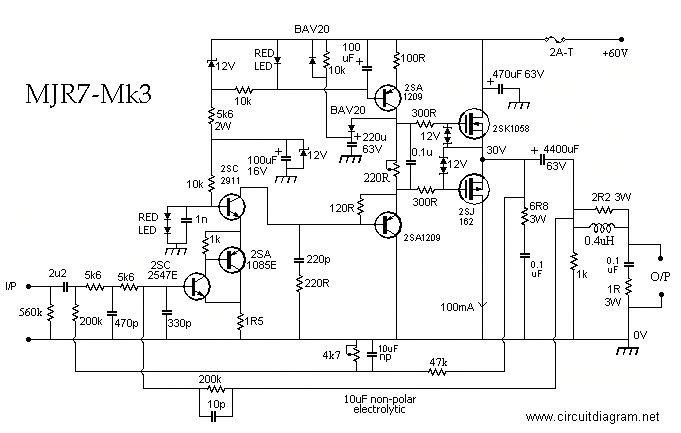 mosfet power amplifier 70w