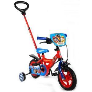 Vélo Disney Pat Patrouille 10 pouces avec canne enfant