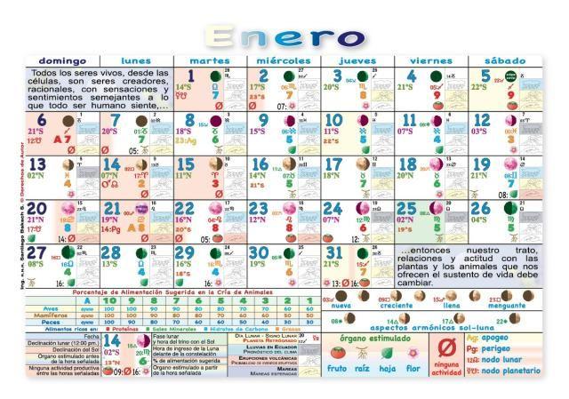 Ecuador Almanaque Calendario Lunar Con Las Fases Lunares Actividades Agricolas Calendario Lunar Almanaques Calendario