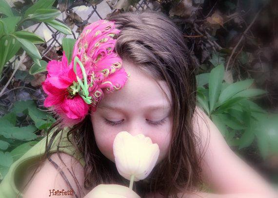 Raspberry Tropics tropical hair flower tiki dress up by Hairfetti