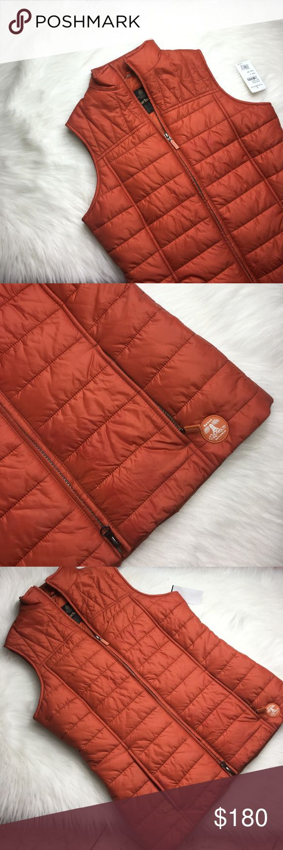"BARBOUR BURNT ORANGE PUFFER VEST SIZE 4 Super cute and brand new!  Want to save more?  Bundle and save on shipping! Measurements:  Length: 25""  Underarms: 18.5""  Inseam:  Waist:  * smoke free home * Reasonable offers only please * All items are recorded in condition listed prior to shipping  * follow me on IG for exclusive sale offers @theposhpassport_ Barbour Jackets & Coats Vests"