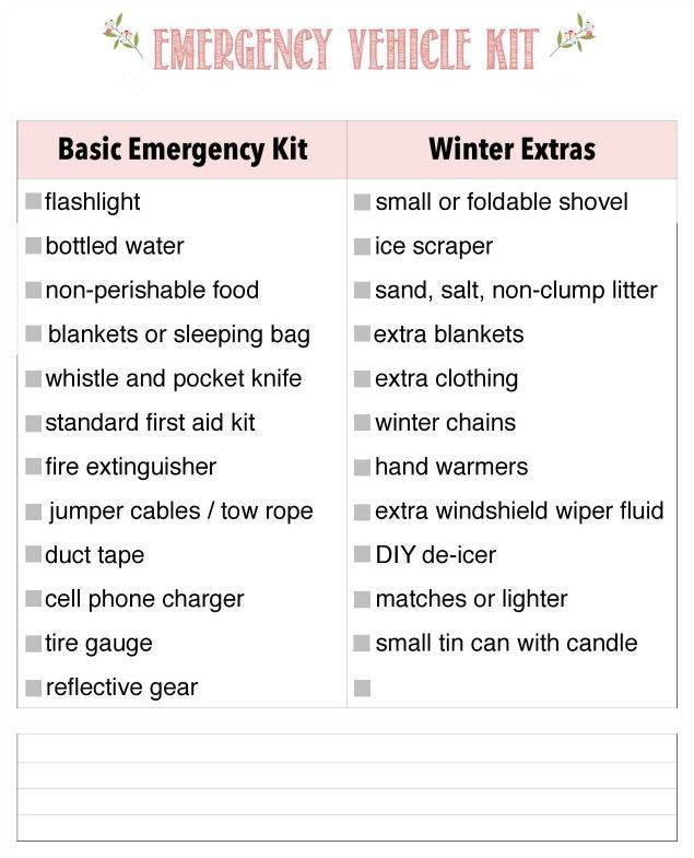 Learn how to prepare your vehicle for winter and keep your family safe with these 6 simple tips. Free printables included to help keep you organized. #ad