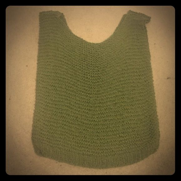 Army green vest Army green knit vest. No tags but fits like a large. Other