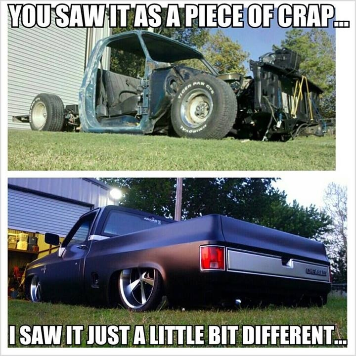 Before N after | Bagged cars/trucks | Pinterest