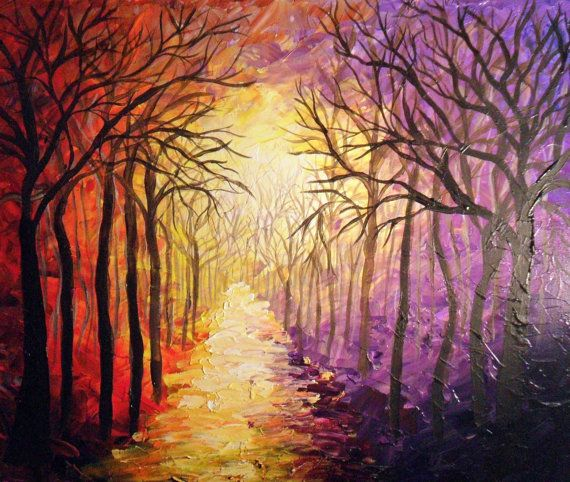 The Road Back Home, acrylic painting- This is beautiful, I love the colors and texture