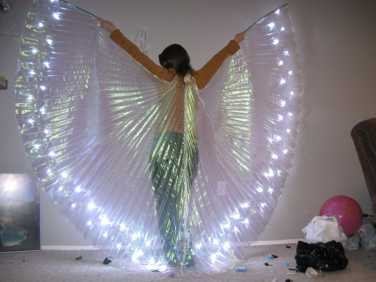 ON HOLD for Nayeli - LED Isis Wings - dance wings - Remainder after deposit for custom order. $60.00, via Etsy.