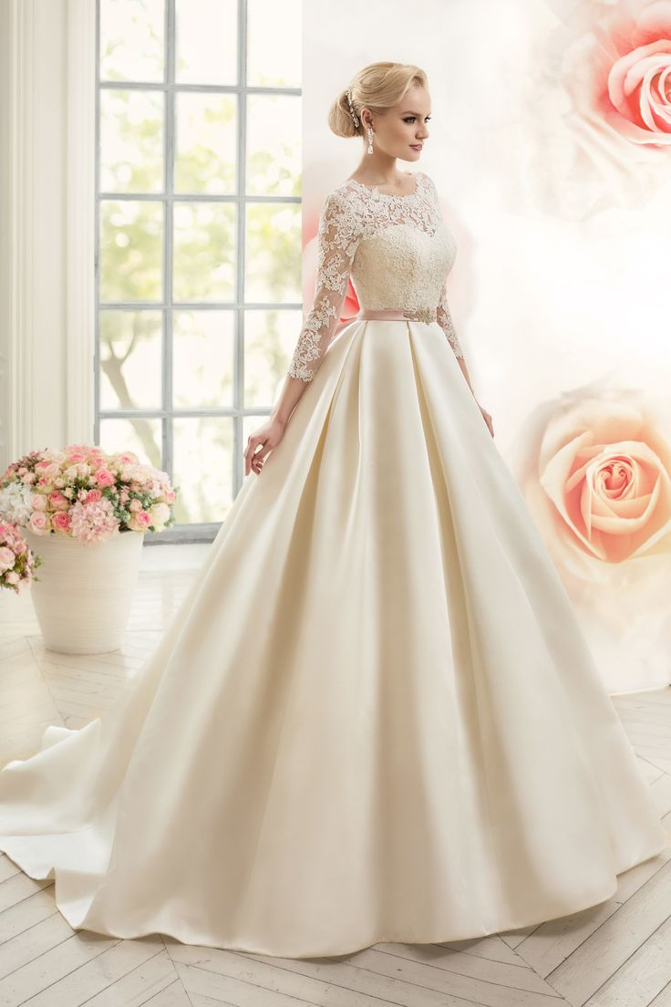 221 best wedding dress images on pinterest wedding dreams 2016 open back scoop with applique and sash a line satin wedding dresses ombrellifo Choice Image