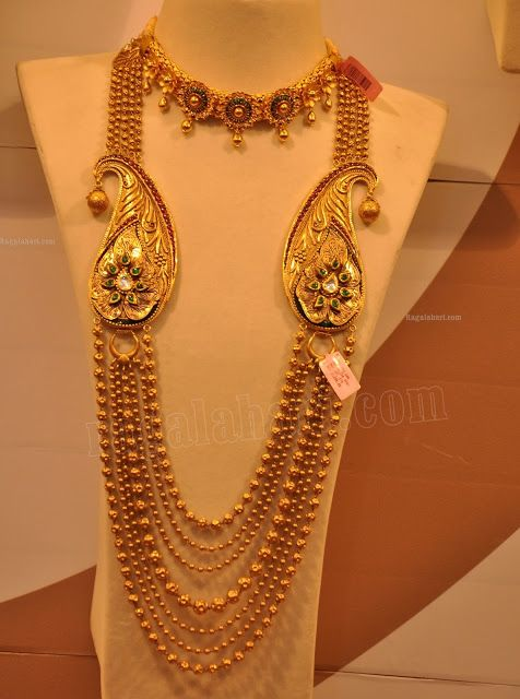 Multistring Beaded Long Chain - Indian Jewellery Designs South Jewellery