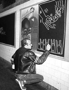 Keith Haring. I remember when these were all over the subways.