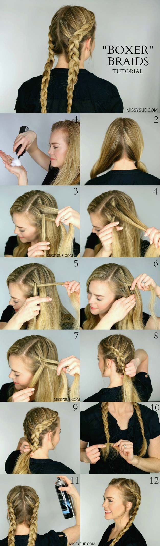 Festival Hair Tutorials – Two Dutch Braids – Quick Start Guide for