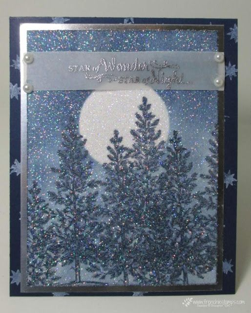 Stamp & Scrap with Frenchie: Sparkle Lovely as a Tree, Christmas card. frenciestamps.com