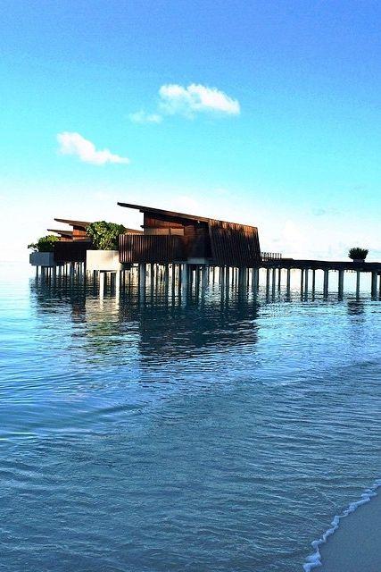 Water Villa at @hadahaa, photo courtesy of @luxurytravelinspector.