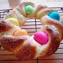 Vlechtbrood met paaseieren @ allrecipes.nl