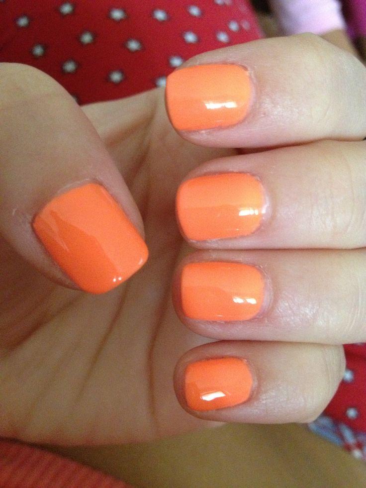 Orange Summer Nails Gel Nails Pinterest Nagels Oranje En Oranje Nagels