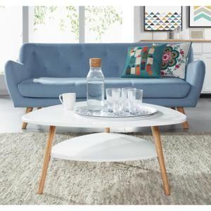 TABLE BASSE AUGUSTINE Table basse 80x80 cm - Laqué blanc satin