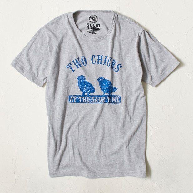 SOLID Threads 《アウトレット》プリントTシャツ メンズ(グレー-S)