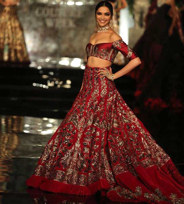 Deepika Paukone Models for Manish Malhotra Couture 2016 Collection