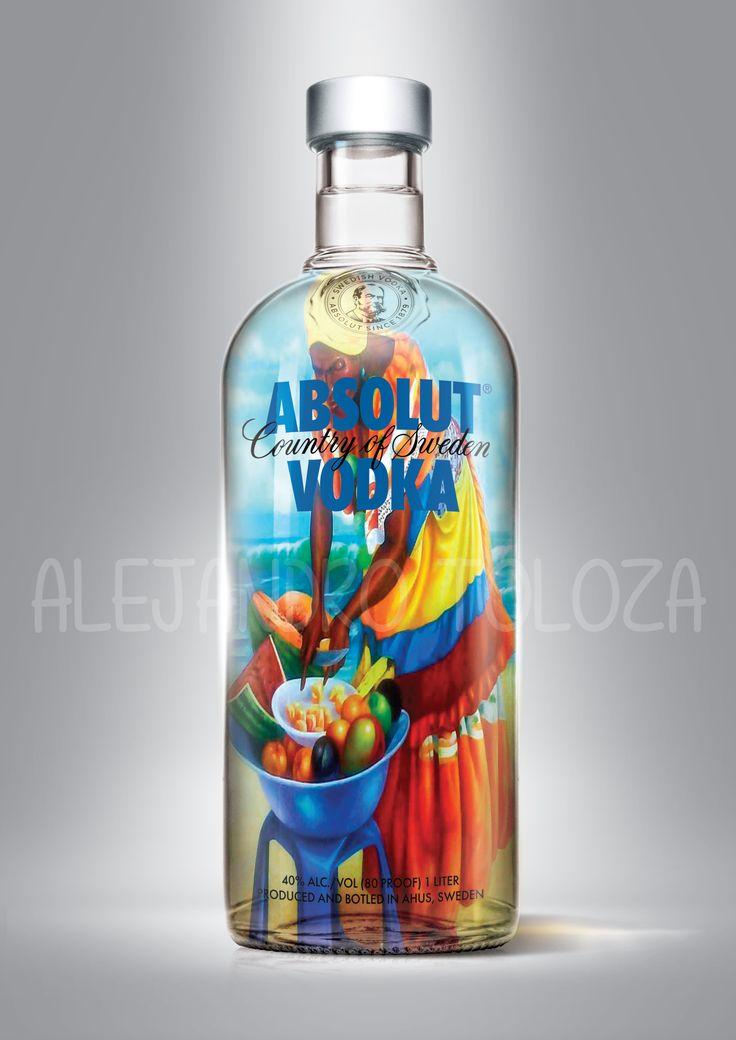 Absolut vodka, Palenquera, Cartagena.