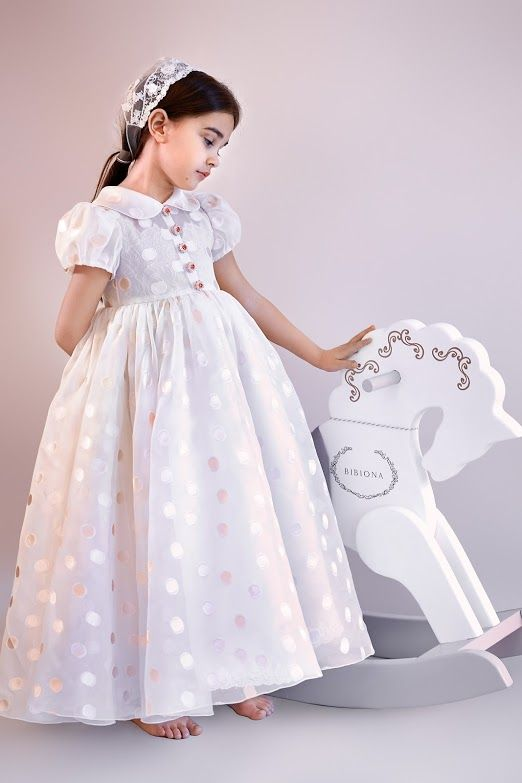 #Dress #exclusive #polkadot #organza #lace  #handmade #embroidered #buttons