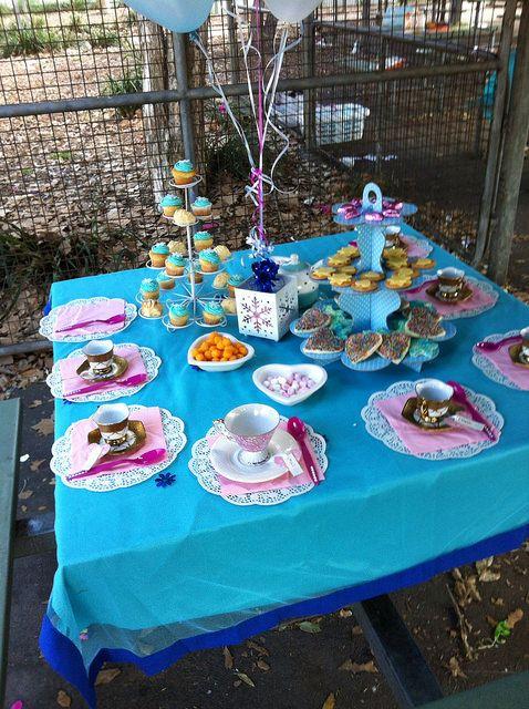 frozen tea party at the park