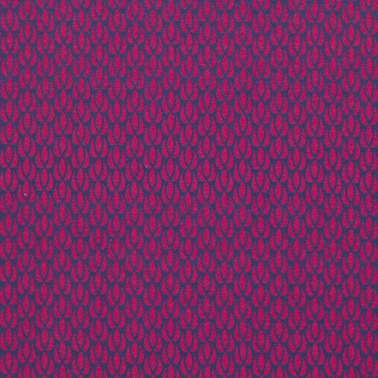 coupon de tissu coton tulip rose mondial tissus. Black Bedroom Furniture Sets. Home Design Ideas