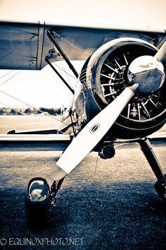 11 x 14 metallic Hampel Vintage Flugzeug Foto von equinoxphoto
