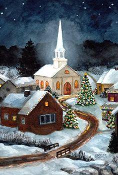 Country Christmas Art
