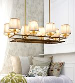 Buy Jainsons Emporio Beige Glass Chandelier  Online: Shop from wide range of Chandeliers Online in India at best prices. ✔Free Shipping✔Easy EMI✔Easy Returns
