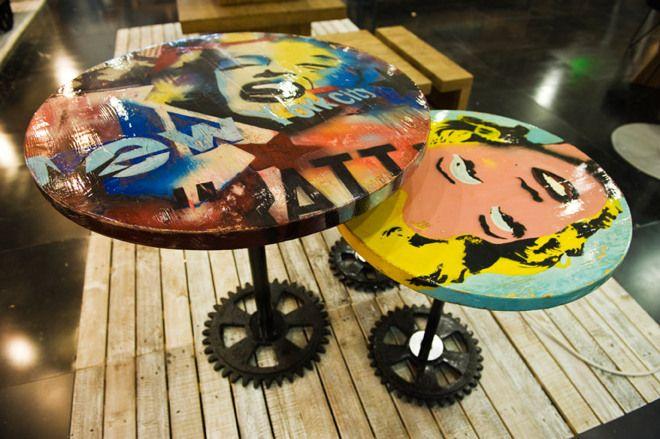 Tavolino Marilyn Pallet riciclati diam.60 cm