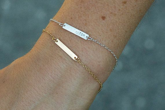 Hand Stamped Friendship Bracelet Small Name Bracelet by FreshyFig