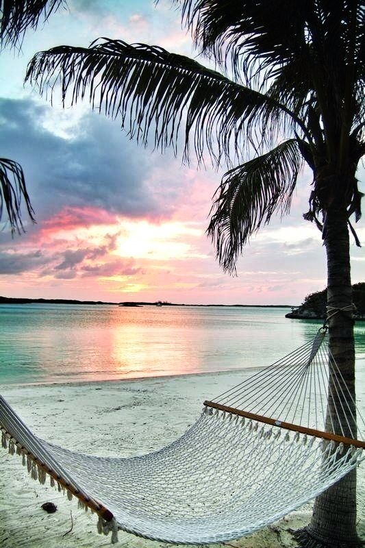 Bahamas | Experience the epitome of relaxation with private beachside hammocks perfect for a romantic vacation.