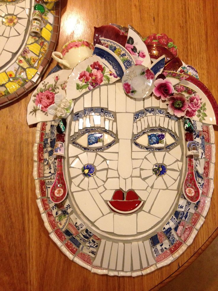 Pink Mosaic Face | Inspired by Cleo Mussi and Mary McMahon a… | Flickr