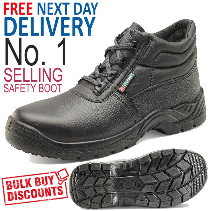 Chukka Work Safety Boot Steel Toe Cap Boot Shoe by Click (Sizes 3 - 13)